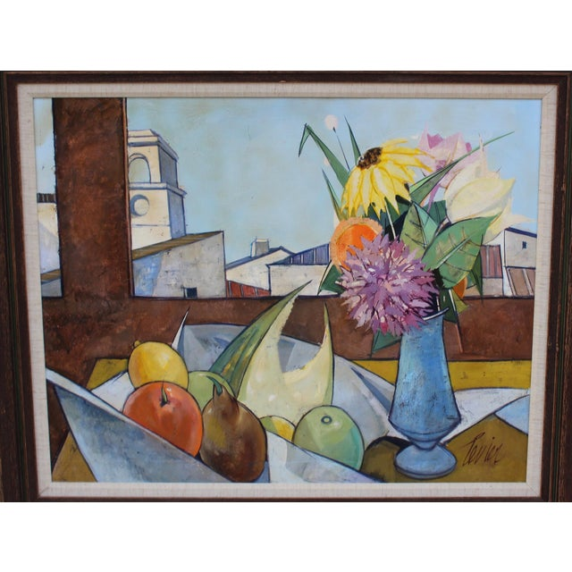 Charles Levier Oil on Canvas Artwork by French Artist Charles Levier For Sale - Image 4 of 11