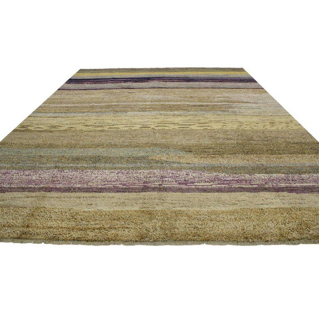 Abstract Contemporary Moroccan Style Rug with Modern Design For Sale - Image 3 of 8
