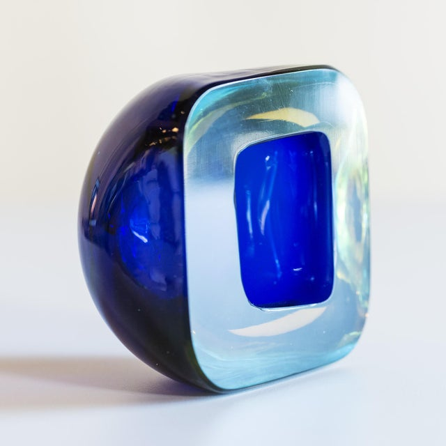 Murano glass in Sommerso technique. Consistent with the work of Flavio Poli for Seguso, Italy.