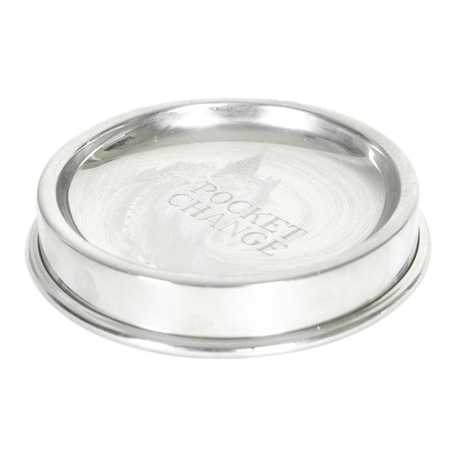 English Silver Plated Pocket Change Tray For Sale