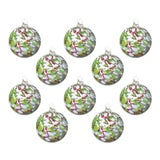 Image of Hand Blown Glass Ornaments, Holiday - Set of 10 For Sale