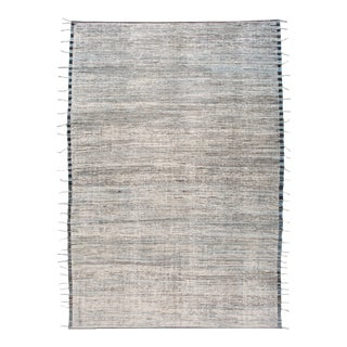 Large Modern Ivory Moroccan-Style Berber Rug For Sale