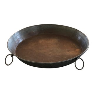 Industrial Rustic Galvanized Metal Tray For Sale