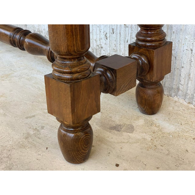 19th Spanish Walnut Console Table With Two Drawers For Sale - Image 10 of 12