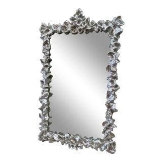 Ruffled Silver Leaf Antiqued Mirror