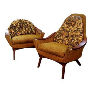 Mid-Century Adrian Pearsall for Craft Associates Chairs- a Pair For Sale