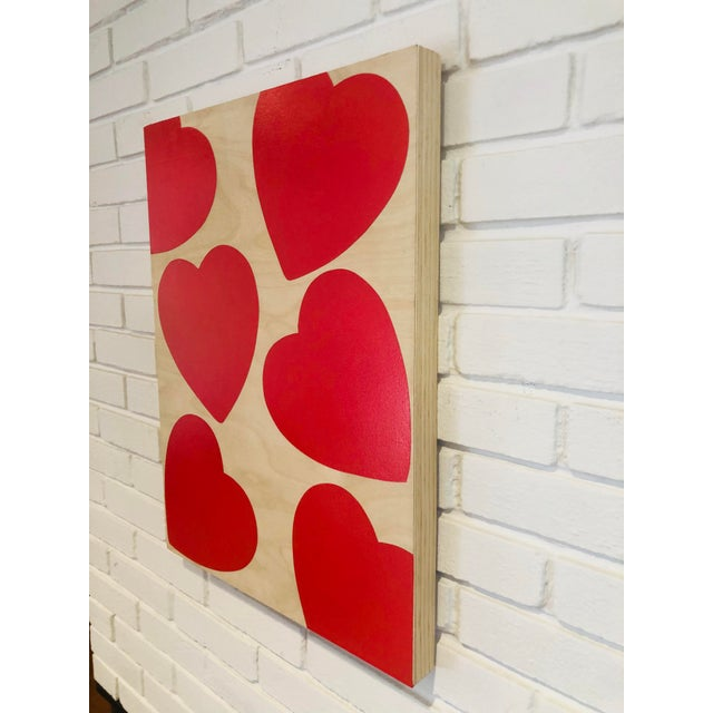 """Titled: """"LOVE YOU ALWAYS"""" Original Modern Painting by Artist Tony Curry. Hand Painted on professional cradled wooden fine..."""