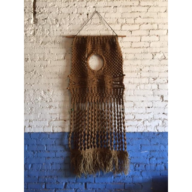 Vintage Large Weave Woven Art Wall Hanging - Image 2 of 8