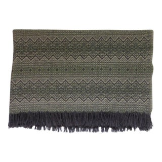 Vintage Mid-Century Amana Wool Throw Blanket For Sale