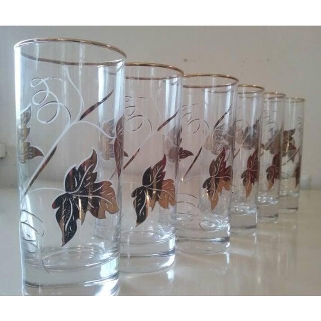 Elegantly Playful Gold White Glasses - Set of 6 - Image 2 of 4