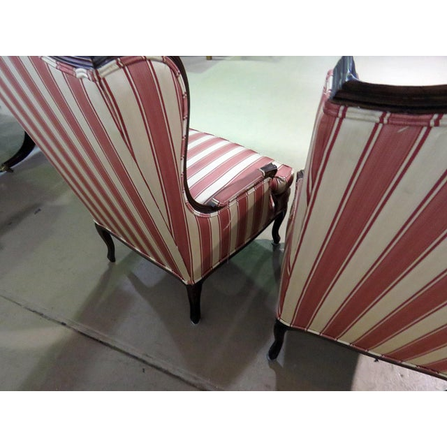 Louis XV Style Wingback Chairs - a Pair For Sale - Image 11 of 13