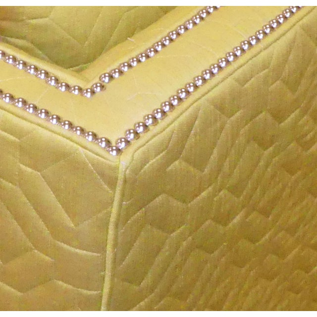 Yellow Wesley Hall Contemporary Blake Sofa With Nailhead Trim For Sale - Image 8 of 11