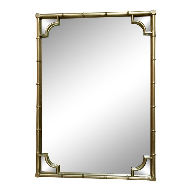 Italian Faux Bamboo Framed Mirror For Sale