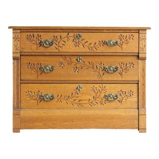 Early 20th Century Antique Eastlake Style Primitive Chest of Drawers For Sale