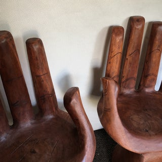Wooden Pedro Friedeberg Style Hand Chairs- a Pair Preview