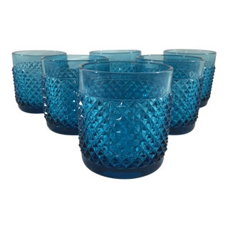 19th Century Small Blue Baccarat Tumblers