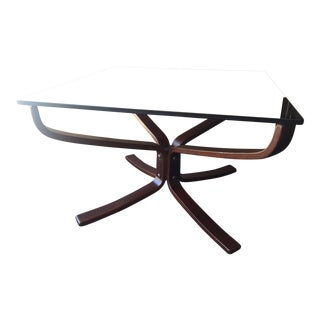 1970s Mid-Century Modern Westnofa Siesta Side Table With Smoked Glass For Sale