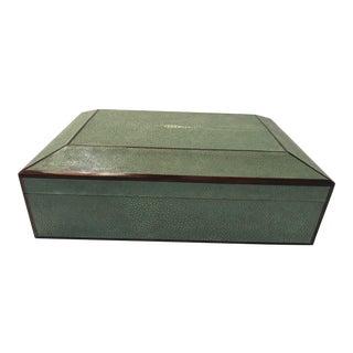 Bone Inlay & Shagreen Box For Sale