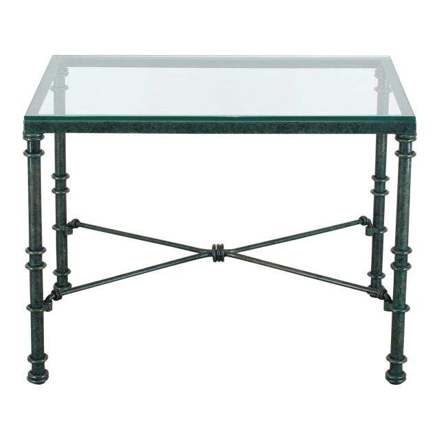 Diego Giacometti Style Iron Side Table, Metal Side Table For Sale