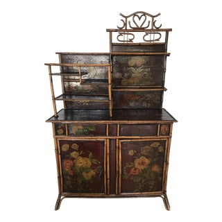 19th Century Americana Burnt Bamboo Sideboard For Sale