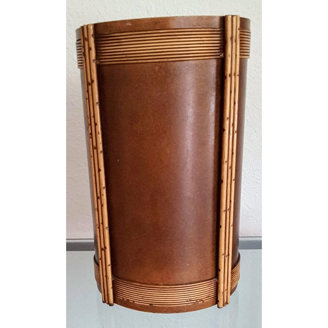 1935 Art Deco Trash Can For Sale In Phoenix - Image 6 of 6