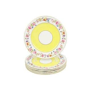 English Hanley Porcelain Dinner Plates, S/6 Preview