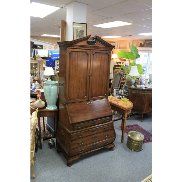 1960s 1968 Chippendale Drexel Secretary For Sale - Image 5 of 11
