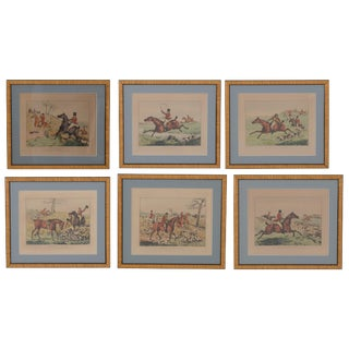 1825 English Hunting Prints by Henry Alken, London - Set of 6 For Sale