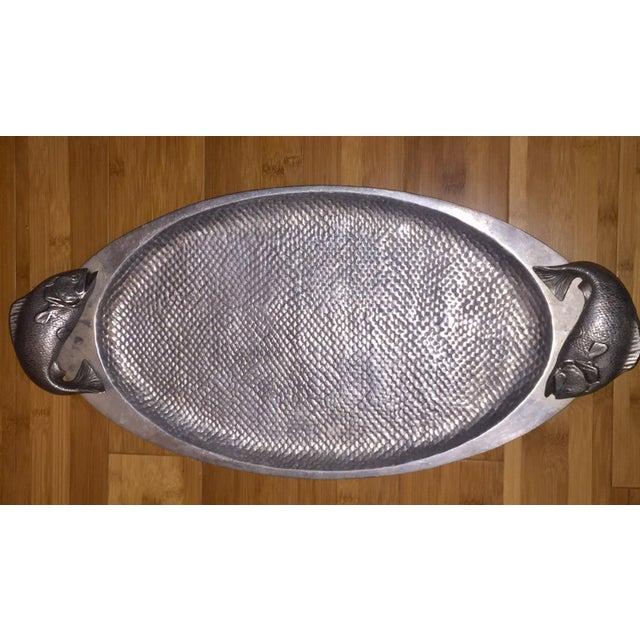 Fish Handle Serving Platter For Sale - Image 7 of 7
