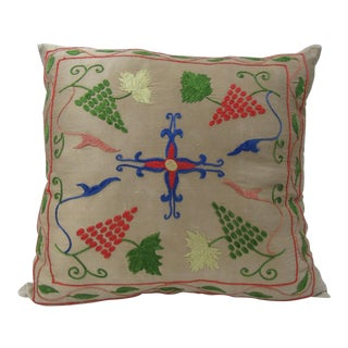 Silk Embroidered Turkish Killim Pillow Cover For Sale