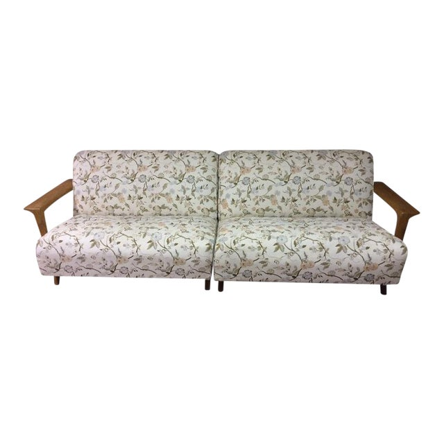 Mid Century Modern Atomic Long Couch - Image 1 of 10