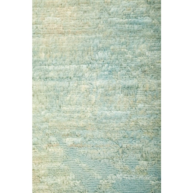 """Contemporary Contemporary Vibrance Hand-Knotted Runner 3' 0"""" x 7' 10"""" For Sale - Image 3 of 4"""