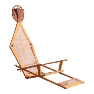 1970s Modern Maple/Teak Chair Art Installation For Sale