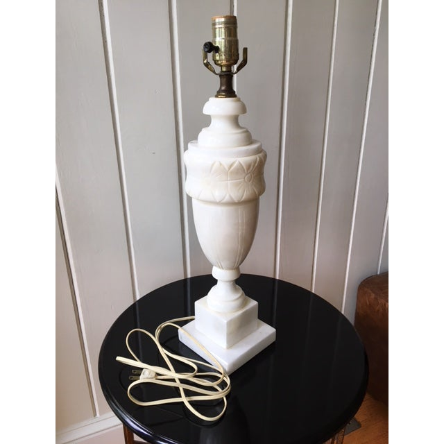Vintage Alabaster Marble Lamp For Sale - Image 9 of 10