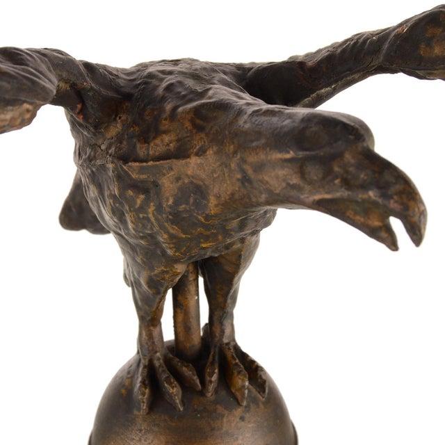 Flying Eagle Antique Copper Weathervane For Sale - Image 9 of 13