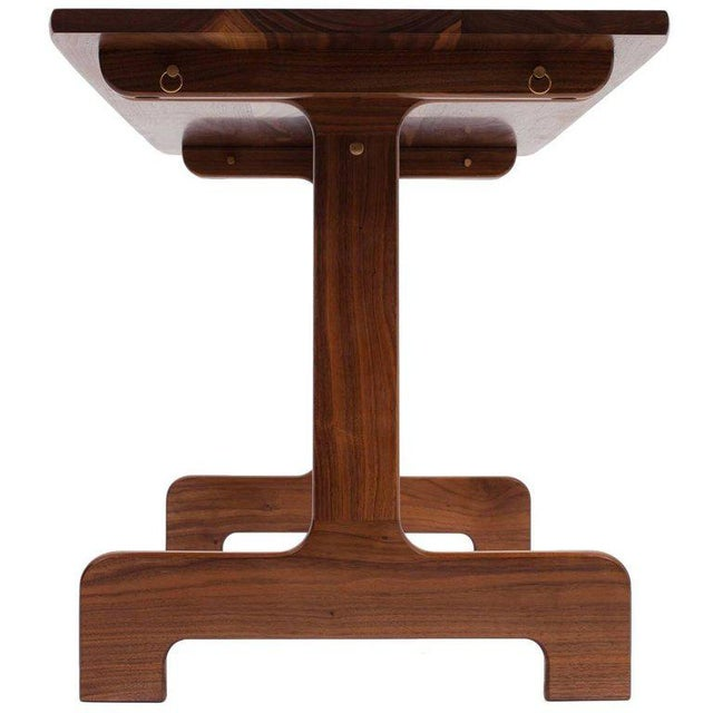 White Asa Pingree Physalia Desk in American Walnut For Sale - Image 8 of 9