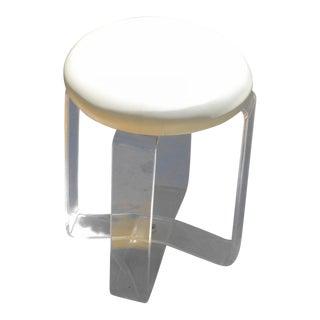 Mid Century Modern Karmel Plastics Lucite Stool For Sale