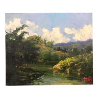 Landscape With Mountain and River Artist Amarel 2005