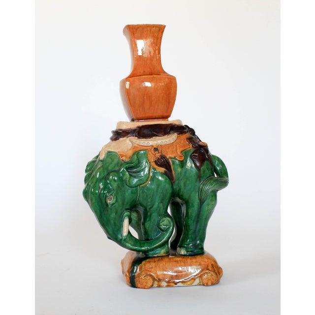 Vintage Elephant Figure Vase For Sale - Image 9 of 11