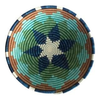 African Rwanda Sweet Grass and Sisal Woven Fruit Basket