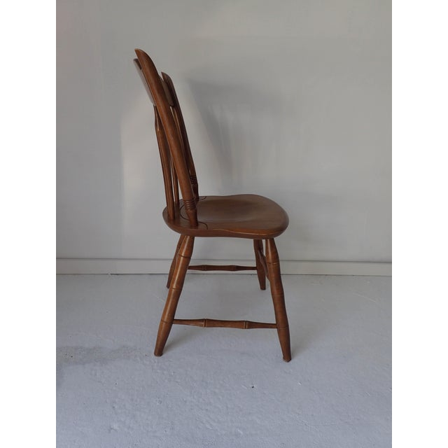 Ethan Allen Ethan Allen Country Thumb-Back Dining Chair For Sale - Image 4 of 7