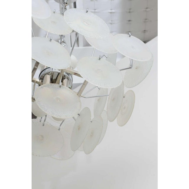 Silver Vistosi Iridescent Disc Chandelier For Sale - Image 8 of 10