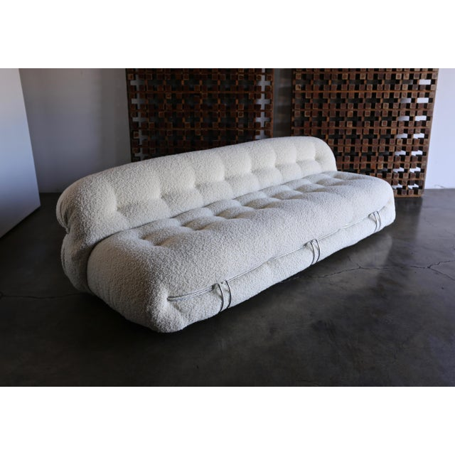 Afra & Tobia Scarpa Soriana Sofa for Cassina in Bouclé, Circa 1975 For Sale - Image 13 of 13