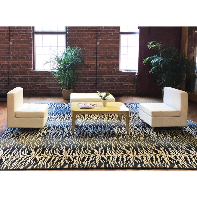 "Stark Studio Rugs Tabby Blue Rug - 3'11"" X 5'10"" For Sale - Image 6 of 6"