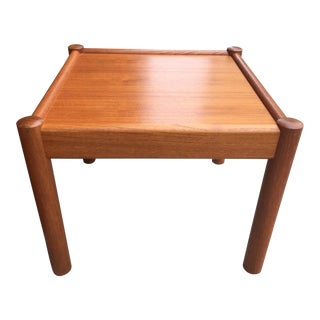 1960s Danish Modern Domino Mobler Teak Side Table For Sale