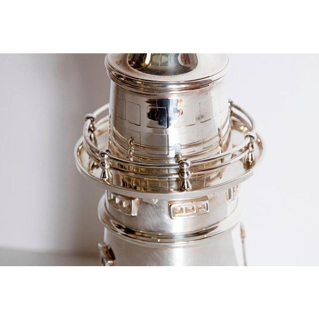 Silver-Plated Boston Lighthouse Cocktail Shaker For Sale - Image 4 of 13