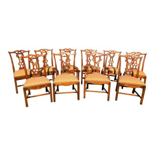 Traditional Dining Room Chairs - Set of 10 For Sale