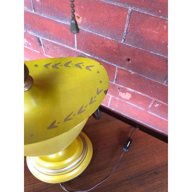 Metal Warren Kessler Painted Metal Urn Lamps - a Pair For Sale - Image 7 of 12
