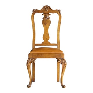 Early 20th Century Antique French Provincial Carved Chair For Sale