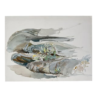 Vintage Abstract Landscaping Watercolor Painting For Sale